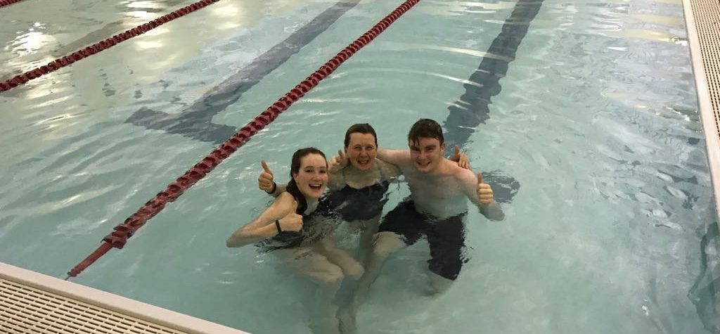 Raising money Marie Curie, Cancer Research UK and the Swimathon Foundation